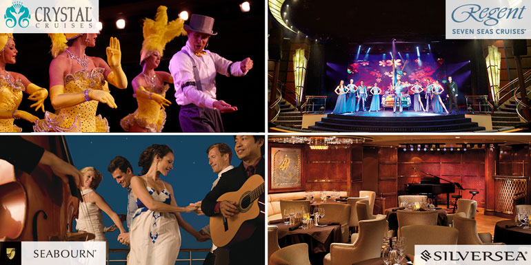 entertainment cruise luxury silversea crystal regent