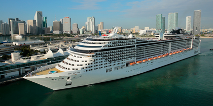 MSC Divina docked in Miami
