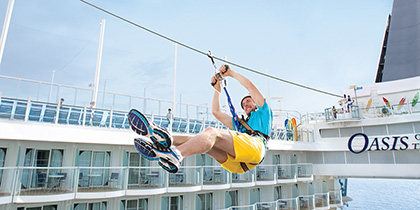 royal caribbean cruise line review zipline