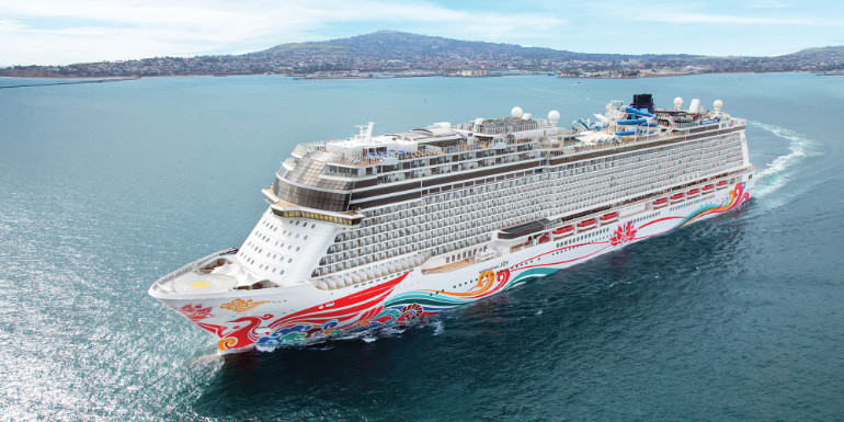 Norwegian Joy aerial los angeles alaska