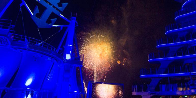fireworks harmony of the seas