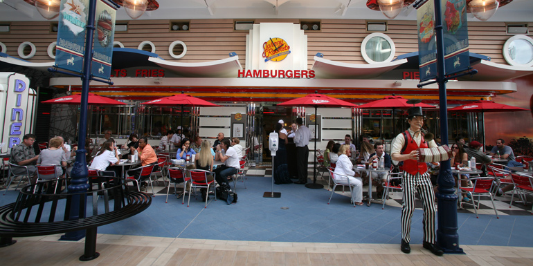 royal caribbean allure johnny rockets restaurant