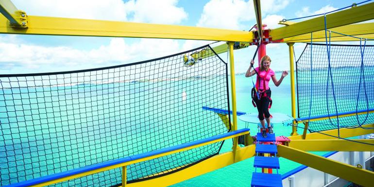 norwegian cruise line ropes course