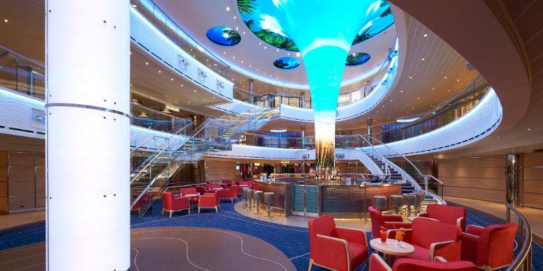 carnival horizon dreamscape atrium cruise ship