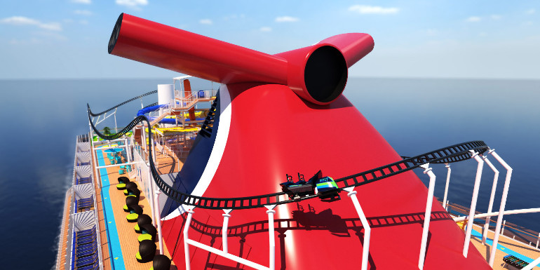 carnival roller coaster mardi gras ship
