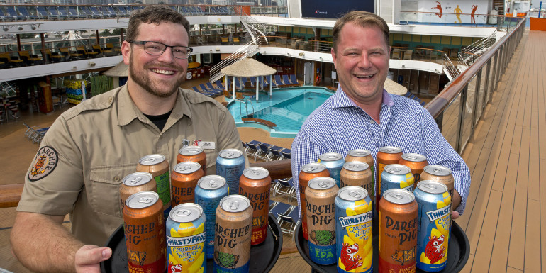 carnival cruise canned craft beer vista horizon