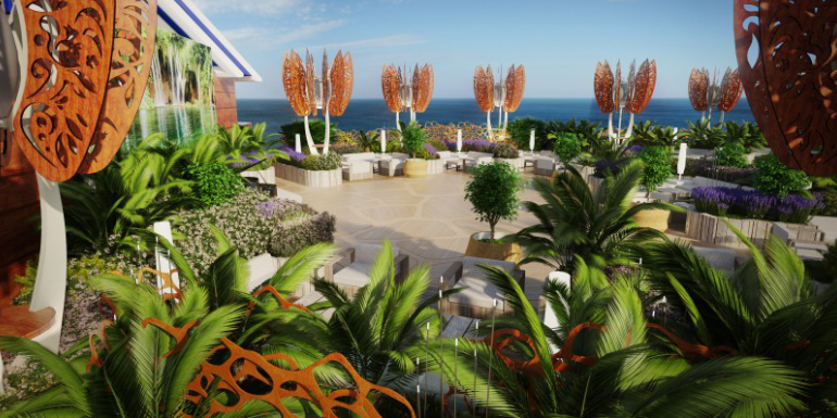 celebrity edge debuting early rooftop garden
