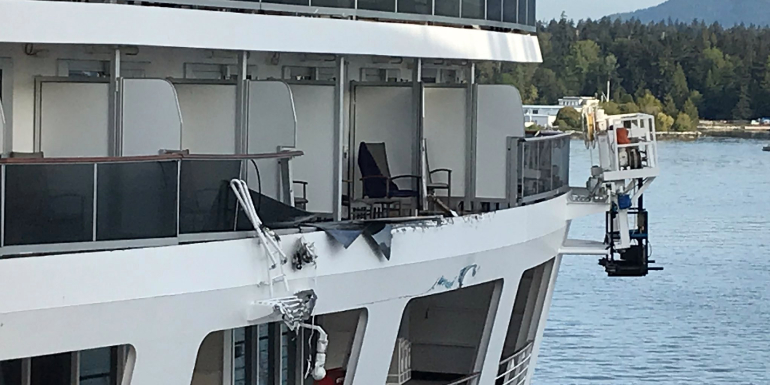 holland america ships collide vancouver
