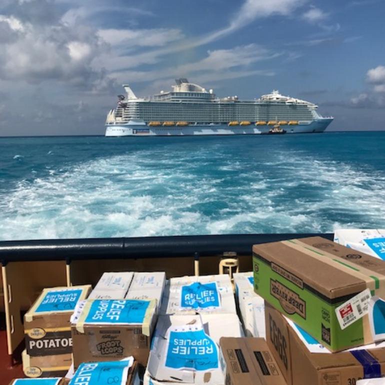 hurricane dorian relief royal caribbean supplies