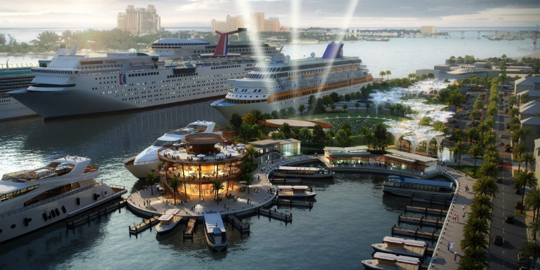 nassau bahamas cruise port transformation rendering