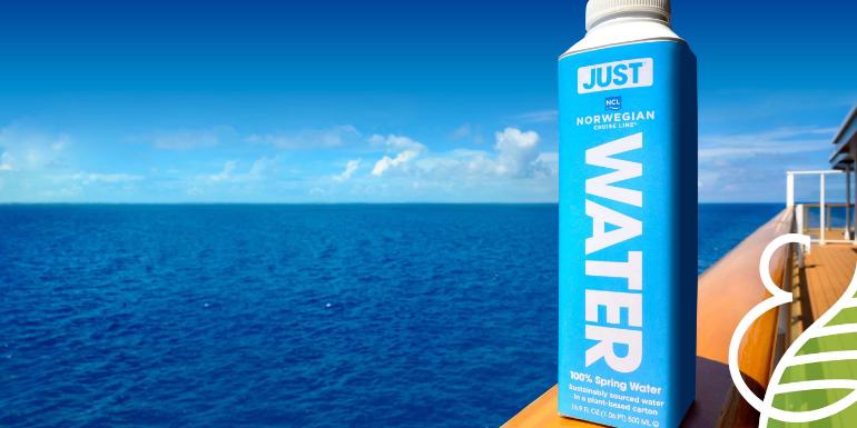 norwegian cruise single use plastic bottles eliminated