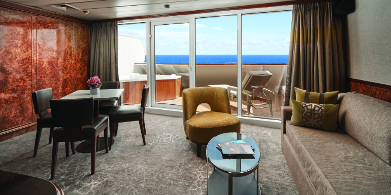 norwegian sky owners suite hot tub cabin cruise