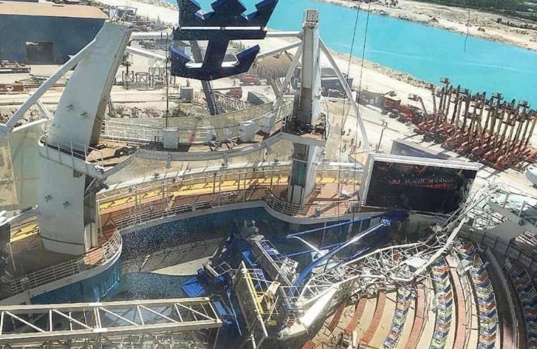 oasis of the seas crane accident bahamas freeport