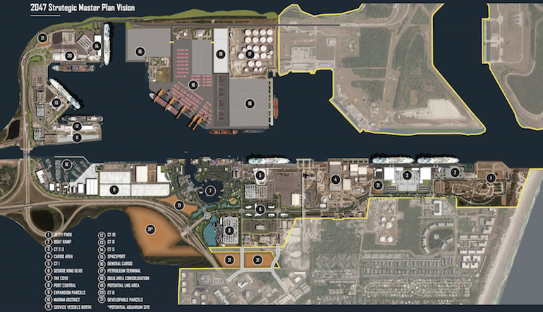 port canaveral 30 year plan aerial