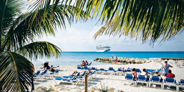 princess cays catches fire cruise island