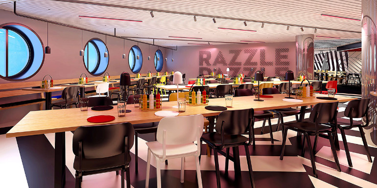 virgin voyages razzle dazzle scarlet lady dining