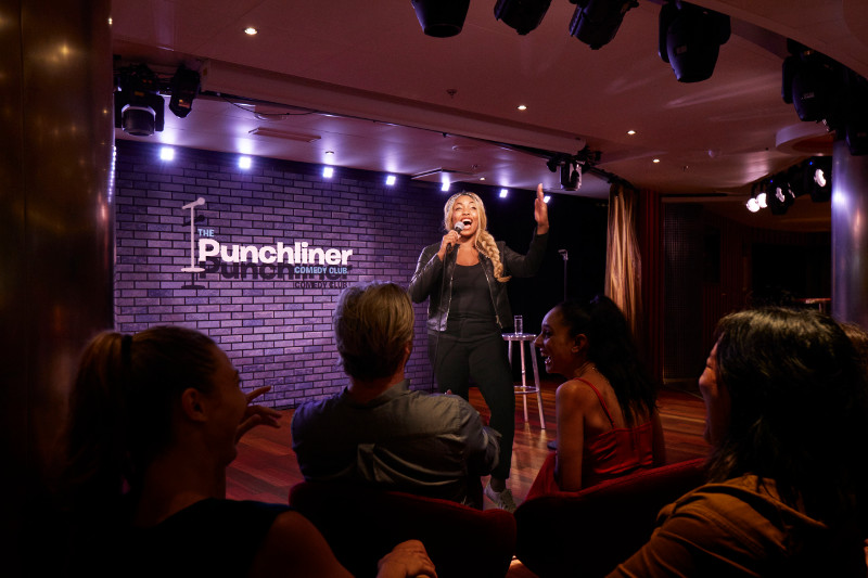 Punchliner Comedy Club on Carnival VIctory.