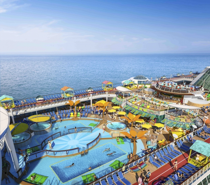 Freedom of the Seas pools